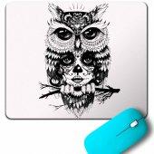 Owl Baykuş Üzgün Kız Güçlü Kadın Mouse Pad