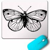 Butterfly Kelebek Tasarım Mouse Pad
