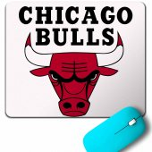 Chıcago Bulls Basketball Basketbol Logo Mouse...