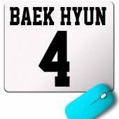 EXO BAEKHYUN 4 BAEK HYUN LOGO MOUSE PAD