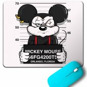 Mıckey Mouse Logo Hapishane Mouse Pad