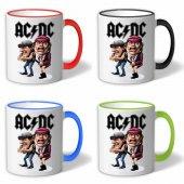 Ac Dc Band Cartoon Alternatif Doğru Akım Kupa...