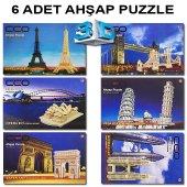 Ceo 3d Altı Adet Ahşap Puzzle Set