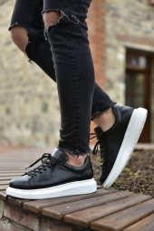 Marqe 2019 Yaz Sezon Beyaz Taban Erkek Ayakkabı Siyah M320