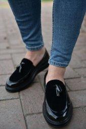 Marqe 2019 Yaz Sezon Rugan Erkek Ayakkabı Siyah M12