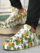 Marqe 2019 Yaz Sezon Beyaz Taban Erkek Ayakkabı Ananas M311