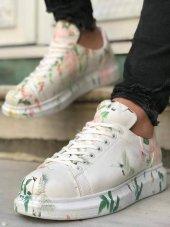 Marqe 2019 Yaz Sezon Beyaz Taban Erkek Ayakkabı Kuşlu M312