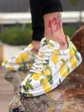 Marqe 2019 Yaz Sezon Beyaz Taban Erkek Ayakkabı Limon M308