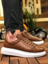 Marqe 2019 Yaz Sezon Beyaz Taban Erkek Ayakkabı Taba M321