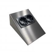 Dolap Tezgah Altı Paslanmaz Metal (İnox) Topraklı Priz