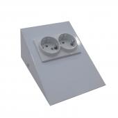 Dolap Tezgah Altı Paslanmaz Metal Beyaz Topraklı Priz