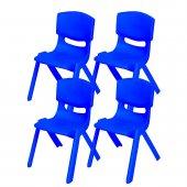 Büyük Şirin Çocuk Sandalyesi Koyu Mavi 4lü Paket