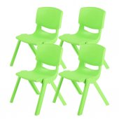 Büyük Şirin Çocuk Sandalyesi Açık Yeşil 4lü Paket