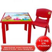 Çocuk Masa Sandalye Takımı Kırmızı Prenses-2