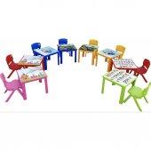 Çocuk Masa Sandalye Takımı Kırmızı Prenses-3