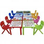 Çocuk Masa Sandalye Takımı Kırmızı Prenses-4