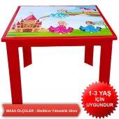 Çocuk Masa Sandalye Takımı Kırmızı Prenses-5
