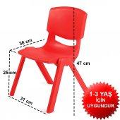 Çocuk Masa Sandalye Takımı Kırmızı Prenses-6