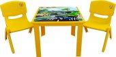 çocuk Masa Sandalye Takımı Sarı Araba 2s 1 3...