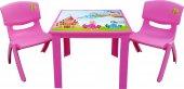 çocuk Masa Sandalye Takımı Pembe Prenses 2s 1 3...
