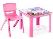 çocuk Masa Sandalye Takımı Pembe Prenses 1 3...