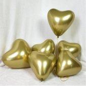 Balon Krom Parlak (Mırror) 16 İnc Kalp Altın 50...