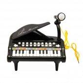 24 Tuşlu Oyuncak Mini Mikrofonlu Piyano Siyah