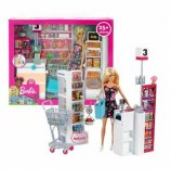 Barbie Süpermarkette Oyun Seti FRP01 YENİ MODEL-3