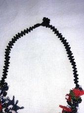 El işi İğne Oyası Boyun Takısı - kolye-2