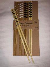 Bambu Ağacından Design Chopstick 5 Çift