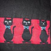 El yapımı Kedi Desenli Patchwork Yastık-2