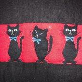 El yapımı Kedi Desenli Patchwork Yastık-3