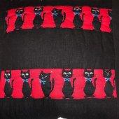 El yapımı Kedi Desenli Patchwork Yastık-4