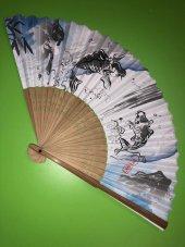 Orjinal Japon Yelpaze Japon Balıkları Motifli