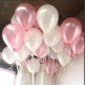 Metalik Sedefli Uçan Balon (Pembe Beyaz Karışık) Balon