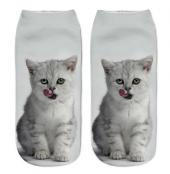 Unisex 3d Kedi Baskılı Soket Çorap