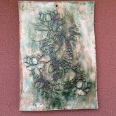 Koi - Japon Balığı - Seramik Duvar Panosu - SR44