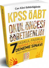 Benim Hocam Yayınları Kpss Öabt Okul Öncesi Öğretmenliği 7 Fasikü