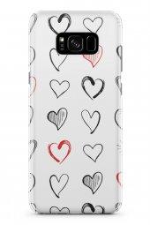 Samsung Galaxy S8 Plus Kılıf Love Serisi White
