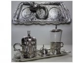 Osmanlı Motifli Tek Kişilik Kahve Fincan Seti-4