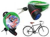 Anahtarlı Çelik Bisiklet Kilidi Asorti