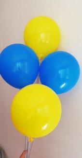 25 Adet Pastel Mavi Sarı Renklerde Baskısız...