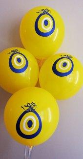 50 Adet Nazar Boncuklu Baskılı Balon