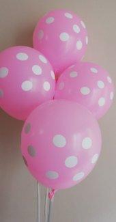 50 Adet Puantiyeli Renkli Baskılı Balon
