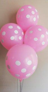 10 Adet Puantiyeli Renkli Baskılı Balon