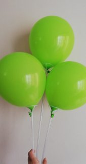 10 Adet Açık Yeşil Baskısız Balon