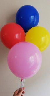 50 Adet Pastel Renk Karışık Baskısız Balon