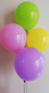 100 Adet Karışık Renkli Baskısız Balon
