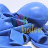 10 Adet Koyu Mavi Baskısız Balon