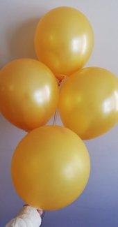 100 Adet Gold Renkli Baskısız Balon